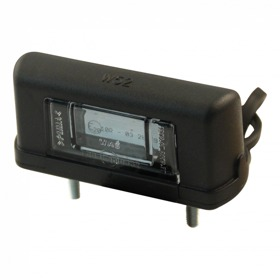 éclairage de plaque LED WAS 244 , 12-24V DC câble 500mm , 2x 0,75mm²